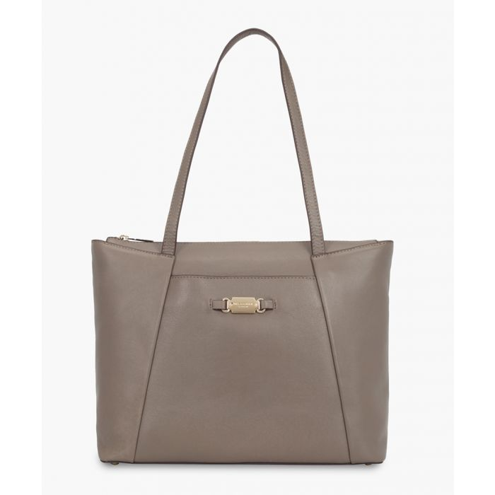 Image for Siena brown leather shopper