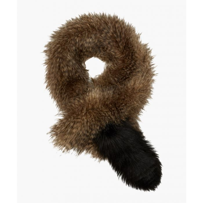 Image for Brown wool blend scarf