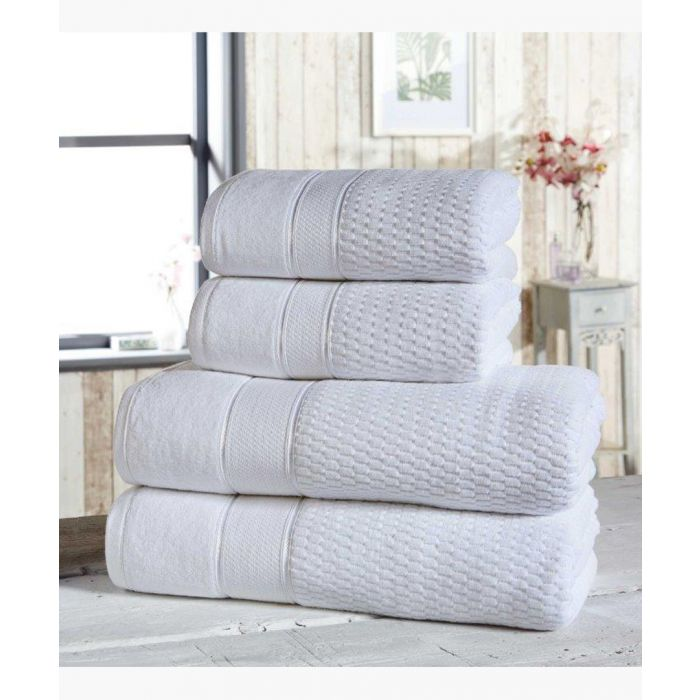 Image for 4pc white cotton towels