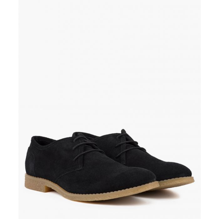 Image for Black leather desert shoes