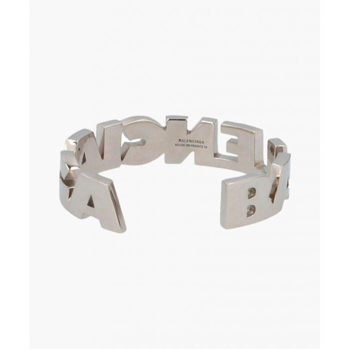 Image for Silver-tone brass bracelet