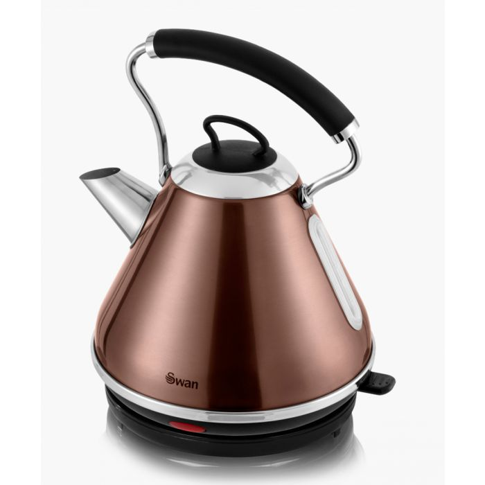 Image for Copper-tone pyramid kettle 1.7L