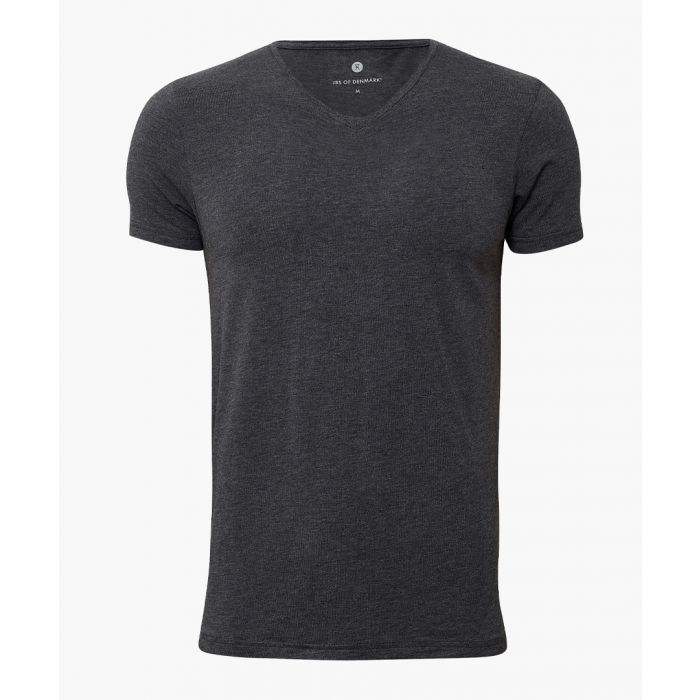 Image for Bamboo viscose and organic cotton blend V-neck T-shirt