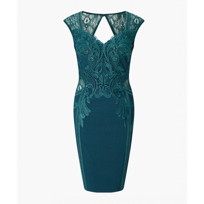 Image for Teal bodycon dress