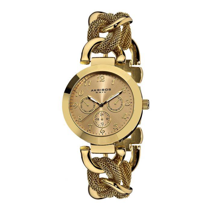 Image for Gold-tone link bracelet watch