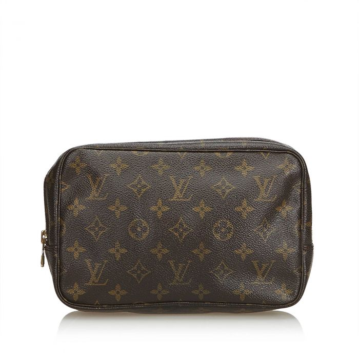 Image for Vintage Louis Vuitton Monogram Trousse Toilette 23 Brown