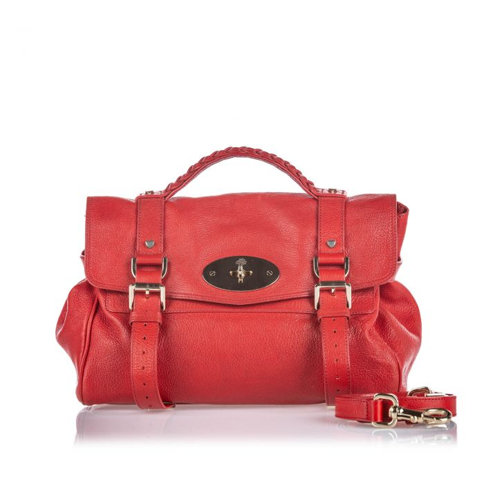 Image for Vintage Mulberry Leather Alexa Satchel Red