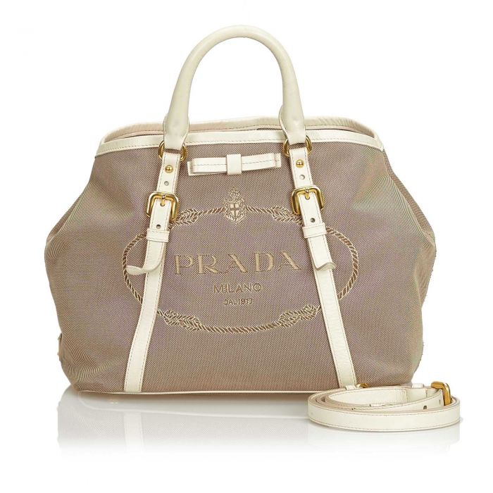 Image for Vintage Prada Canapa Canvas Satchel Brown