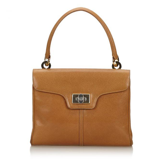 Image for Vintage Gucci Vintage Leather Handbag Brown