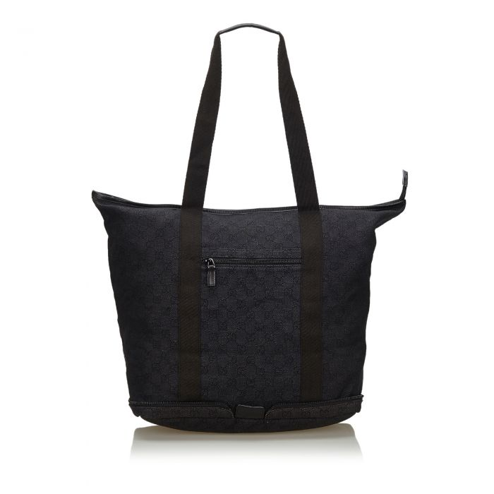 Image for Vintage Gucci GG Canvas Collapsible Tote Bag Black