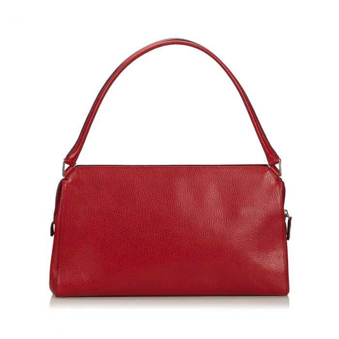 Image for Vintage Prada Leather Baguette Red