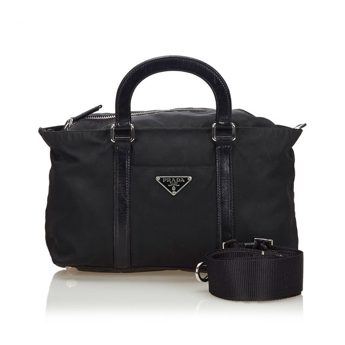 Image for Vintage Prada Nylon Satchel Black