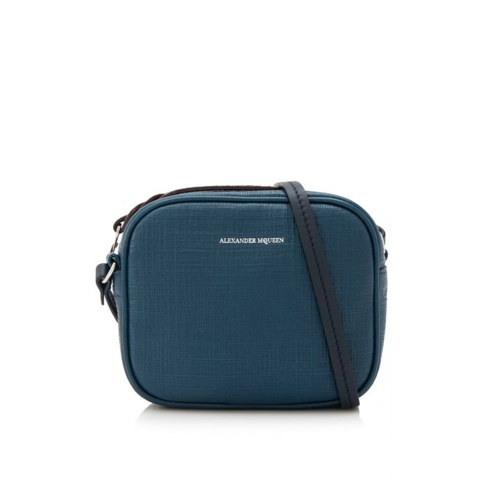 Image for Vintage Alexander McQueen Mini Camera Bag Blue