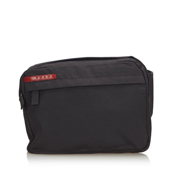 Image for Vintage Prada Sports Nylon Belt Bag Black