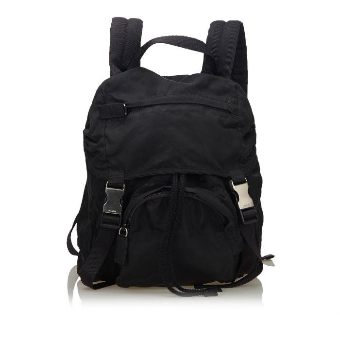 Image for Vintage Prada Nylon Backpack Black