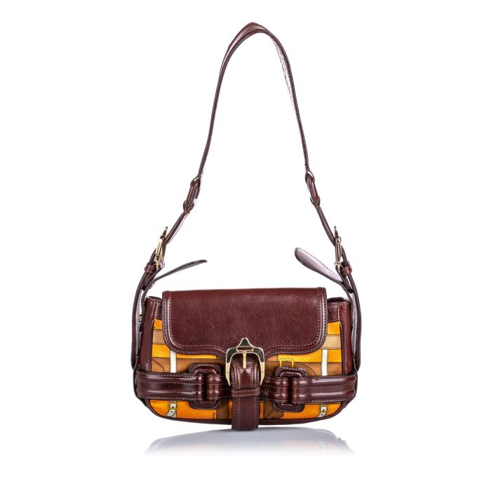 Image for Vintage Burberry Printed Shoulder Bag Brown