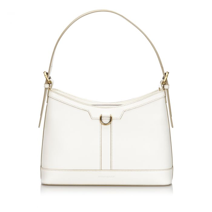 Image for Vintage Burberry Leather Shoulder Bag White