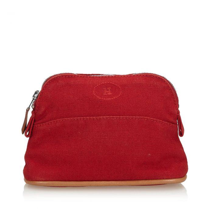 Image for Vintage Hermes Bolide Trousse de Voyage Red
