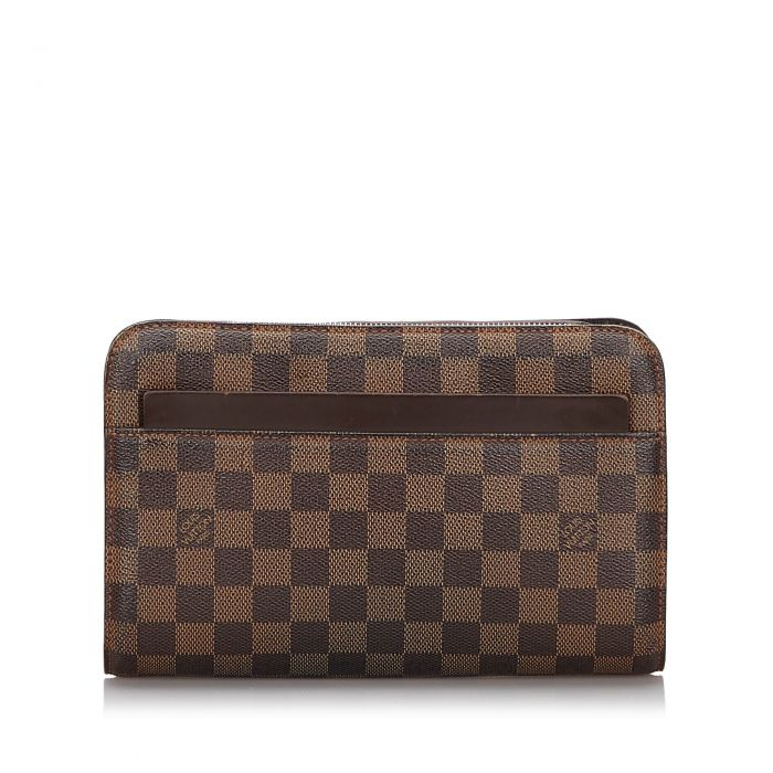 Image for Vintage Louis Vuitton Damier Ebene Pochette Saint Paul Brown