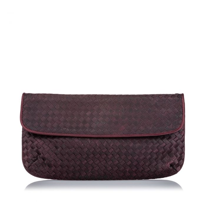 Image for Vintage Bottega Veneta Intrecciato Nylon Clutch Bag Purple