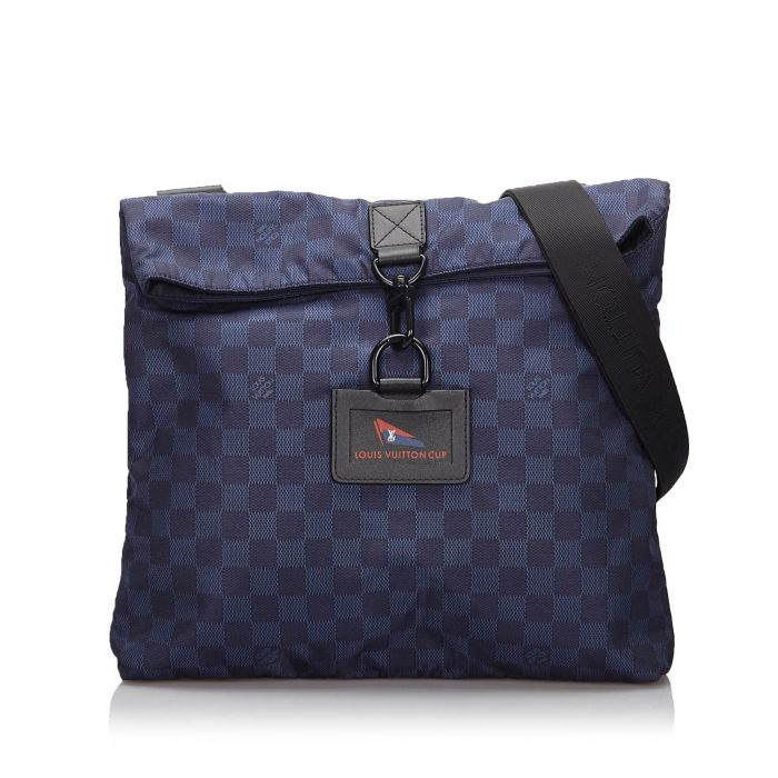 Image for Vintage Louis Vuitton Damier Nylon LV Cup Alize Crossbody Blue