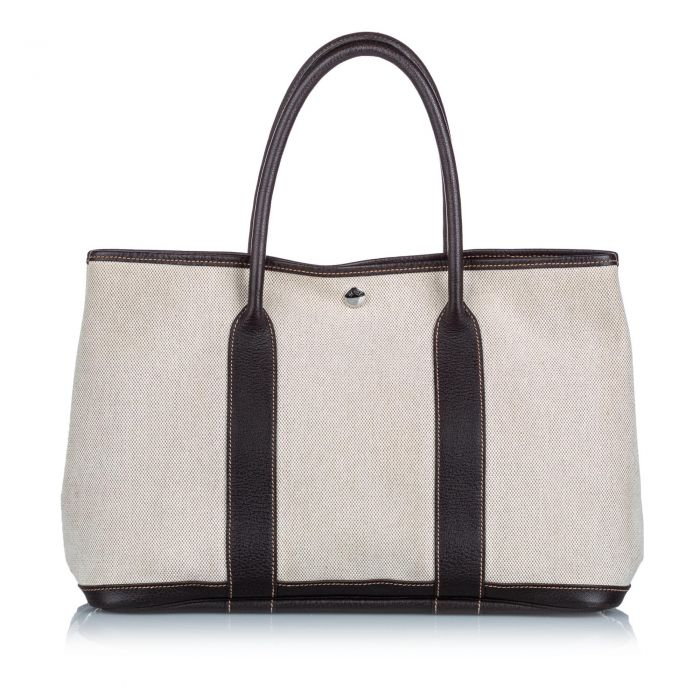 Image for Vintage Hermes Garden Party PM White