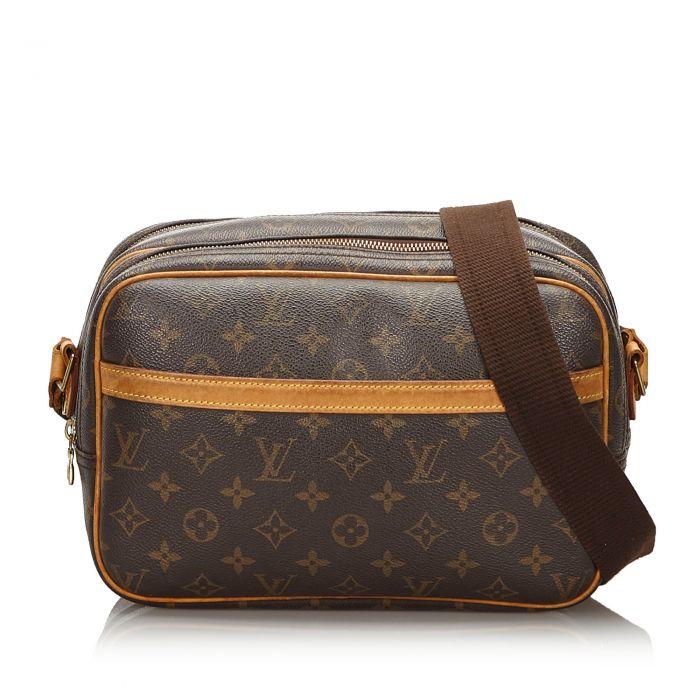 Image for Vintage Louis Vuitton Monogram Reporter PM Brown