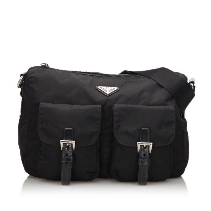 Image for Vintage Prada Nylon Crossbody Bag Black