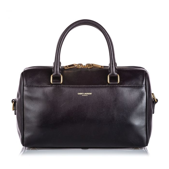 Image for Vintage YSL Leather Classic Baby Duffle Black