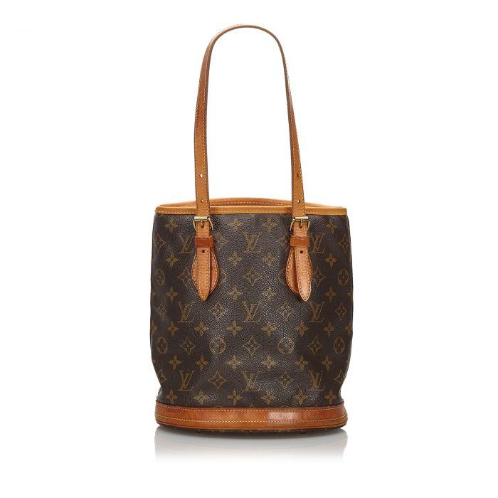 Image for Vintage Louis Vuitton Monogram Petit Bucket Brown