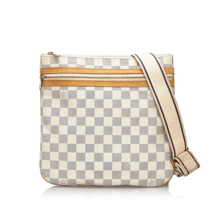 Image for Vintage Louis Vuitton Damier Azur Pochette Bosphore White