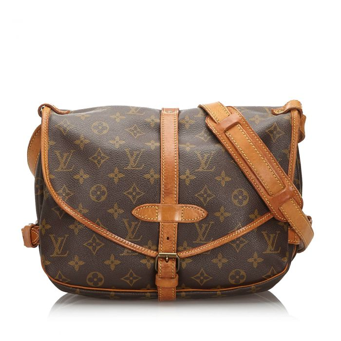 Image for Vintage Louis Vuitton Monogram Saumur 30 Brown