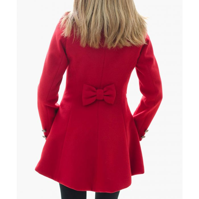 Image for Red wool blend asymmetric coat