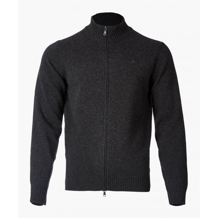 Image for Charcoal zip-up jumper