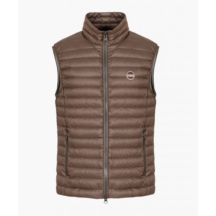 Image for Brown down padded gilet