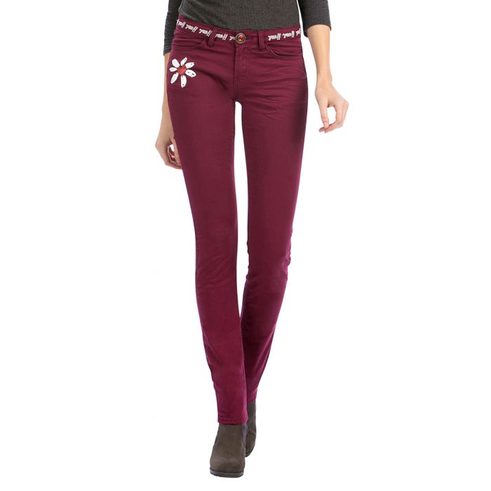 Image for Aileen maroon cotton blend trousers