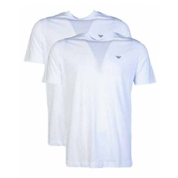 Image for 2pc White pure cotton T-shirt set