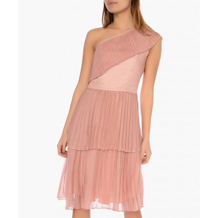 Image for Dusty pink tiered dress