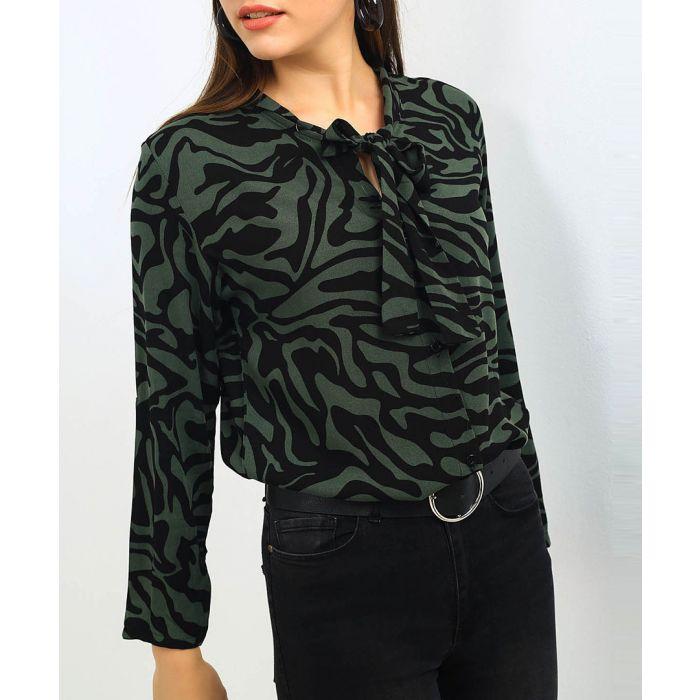 Image for Khaki and black zebra print shirt