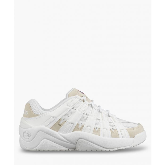 Image for Endorsement white leather trainers