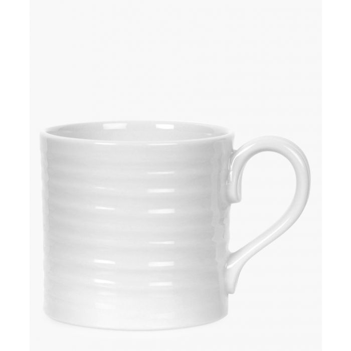 Image for 4pc white porcelain short mug set