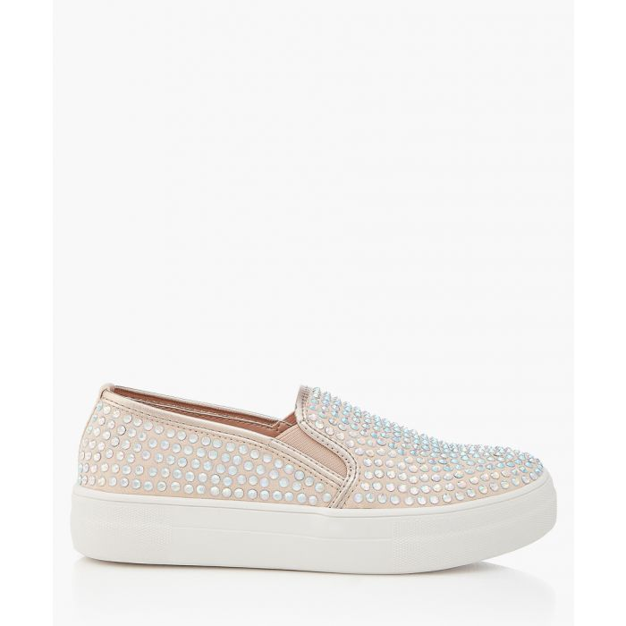 Image for Nude studded slip-ons