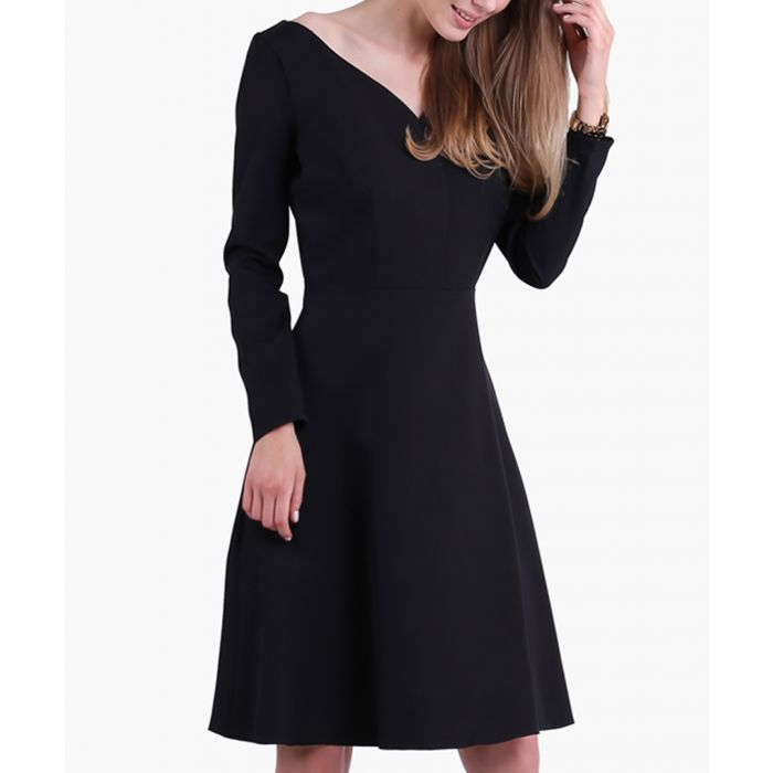 Image for Black v-neck dress