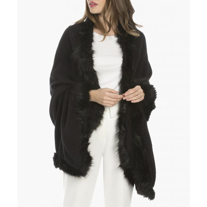 Image for Black faux fur wrap