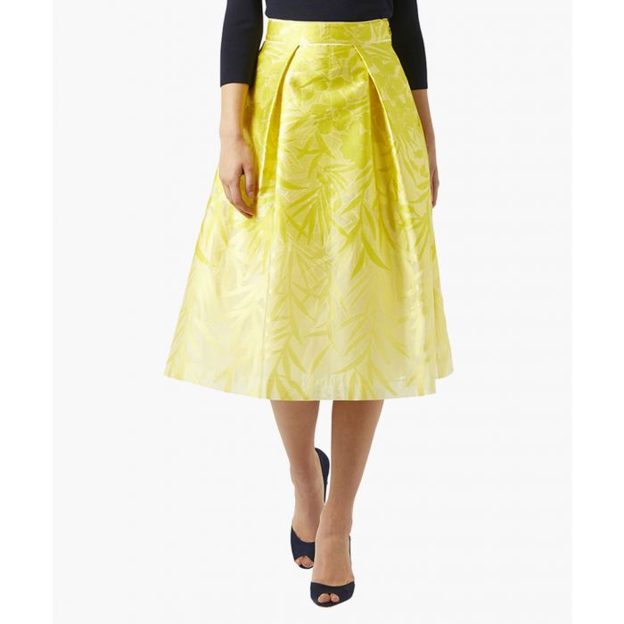 Image for Botanica yellow A-line midi skirt