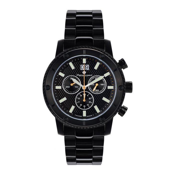 Image for Tableau du Bord black steel watch