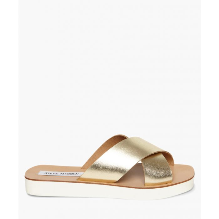 Image for Trent gold strap sandals