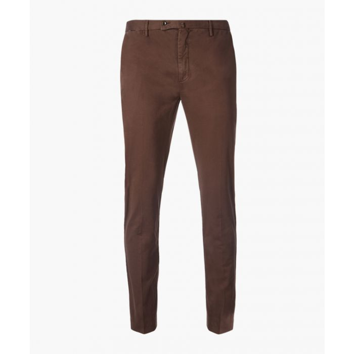 Image for Kensington brown slim fit chinos
