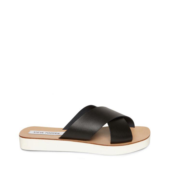 Image for Trent black & brown sandals