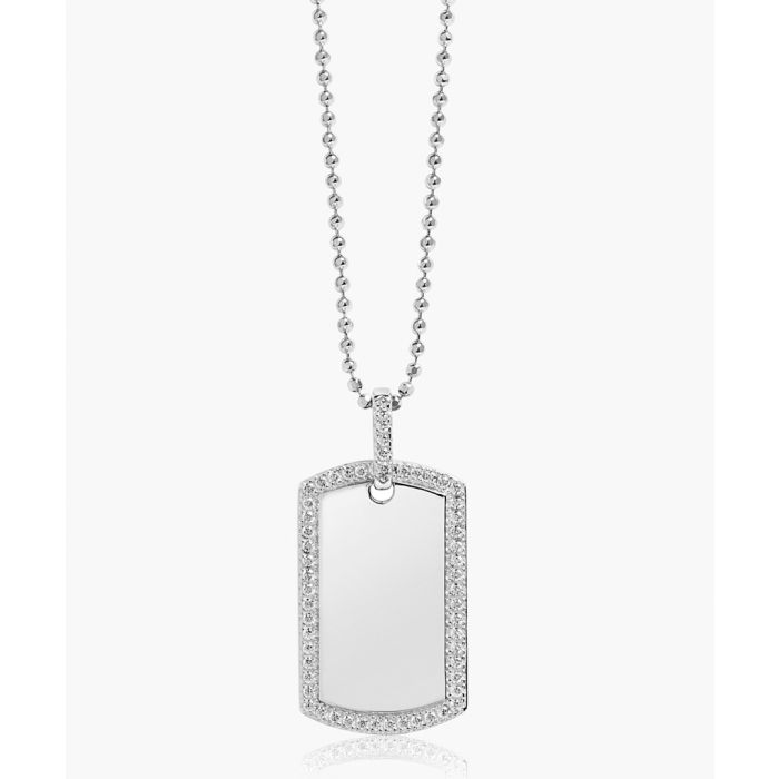 Image for Gemmano Uno white zirconia pendant